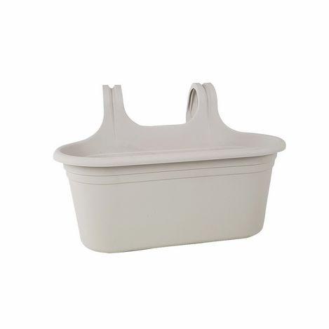 Serinova No-2 Tombik Saksı (Kirli Beyaz) - 6.5 Litre