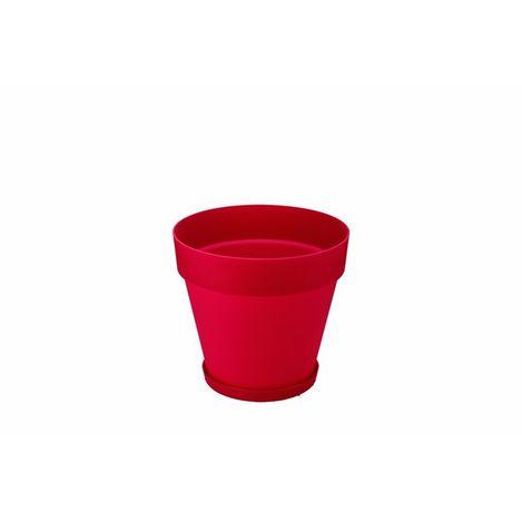 Serinova No-4 Yalı Saksı (Kırmızı) - 6 Litre