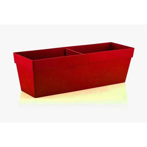 Resim  Serinova No-1 Yalı Balkon Saksı (Kırmızı) - 6.5 lt