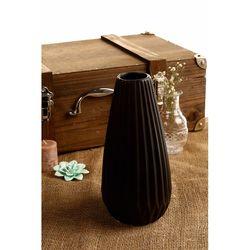 Secret Tırtıklı Vazo - Mat Siyah