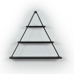 Mingitav Moset Üçgen Raf (Siyah)