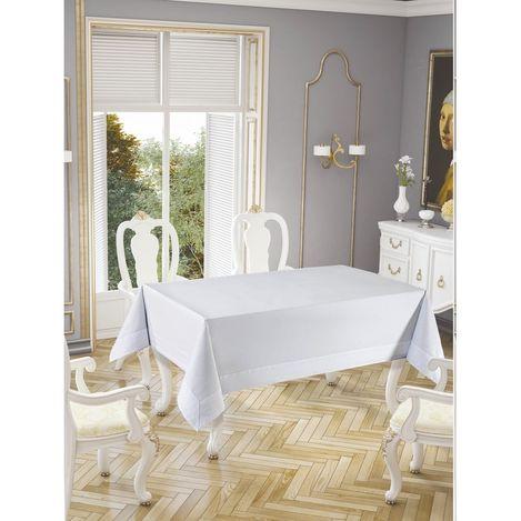 Honey Tablecholts Masa Örtüsü (Beyaz) - 160x220 cm