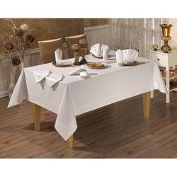 Honey Tablecholts Set Masa Örtüsü (Beyaz) - 160x220 cm +8napkins