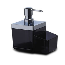 Primanova Toskana Mutfak Sıvı Sabunluk - Şeffaf Siyah