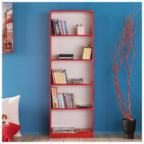 Resim  Adore Max 5 Raflı Kitaplık - Kırmızı