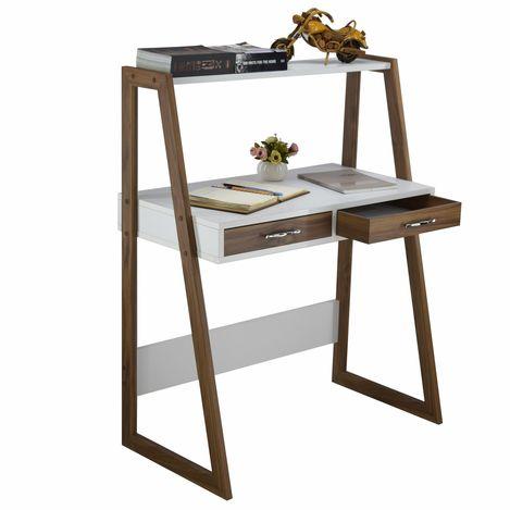 Resim  Just Home Modeno Çalışma Masası - Beyaz/Ceviz