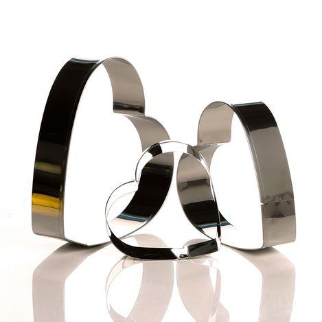 Resim  Fackelmann Fackelmann Zenker 3'Lü Metal Kalp Şekilli Kurabiye Kesici - 2,4 cm