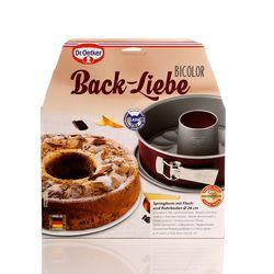 Dr.Oetker Dr.Oetker Back-Liebe Bicolor Kelepçeli Çift Tabanlı Borulu Kek Kalıbı - 26 cm