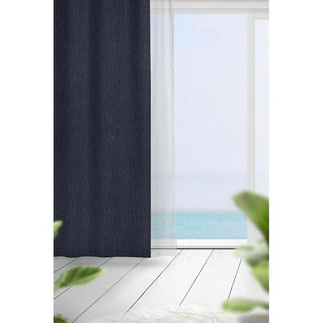 Premier Home Flamlı Blackout Fon Perde (Lacivert) - 140x270 cm