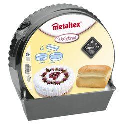Metaltex 4 Parça Pasta Kek Kalıbı