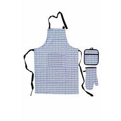 Giz Home Mutfak Önlük ve Eldiven Seti Üçlü - Çizgili
