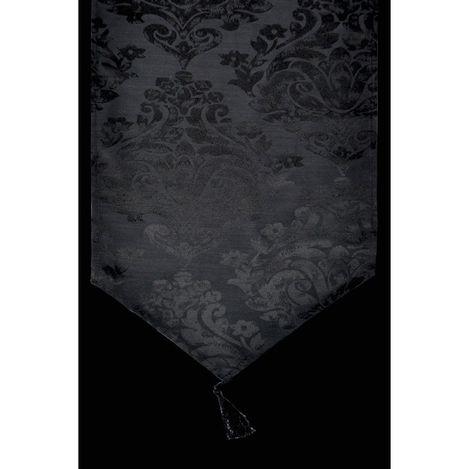 Giz Home Runner (Siyah Desenli) - 33x183 cm