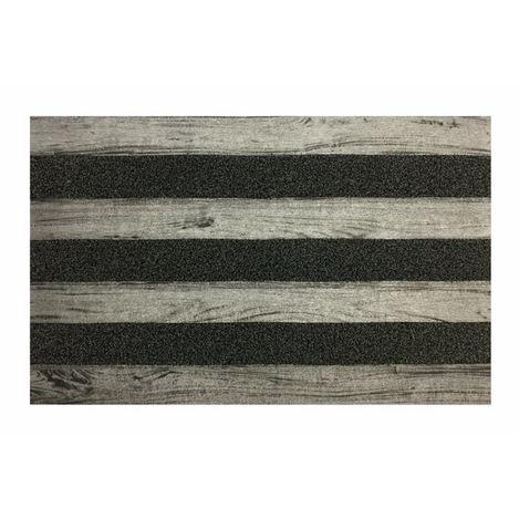 Resim  Giz Home Woody Kapı Paspası (Gri) - 45x75 cm
