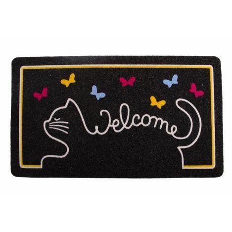 Resim  Giz Home İtalyan Kokardo Cat Welcome Kapı Paspası - 40x70 cm