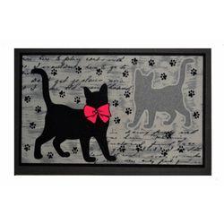 Giz Home İtalyan Format Siyah Kediler Kapı Paspası - 40x68 cm