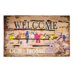 Giz Home Mozaik Kapı Paspası (Kahverengi) - 45x75 cm