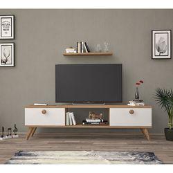 Just Home Terra 140 Cm Tv Ünitesi - Atlantik Çam / Beyaz