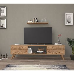 Just Home Terra 140 Cm Tv Ünitesi - Atlantik Çam