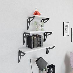 Decormet Maske 3'Lü Raf Seti - Siyah / Beyaz