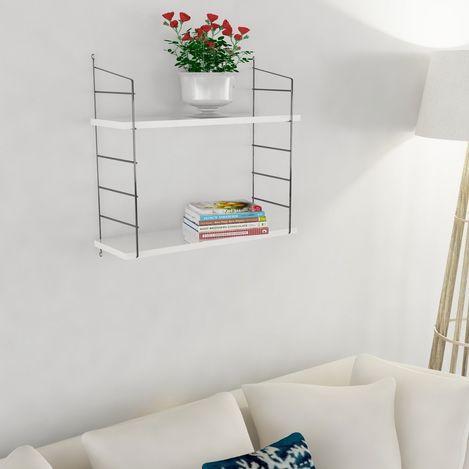 Resim  Decormet Armoni 2 Raflı Duvar Rafı Seti - Beyaz