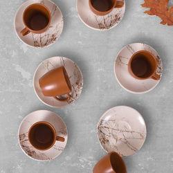 Keramika 17802 A Magic Kulplu 12 Parça Kahve Takımı - Kahverengi