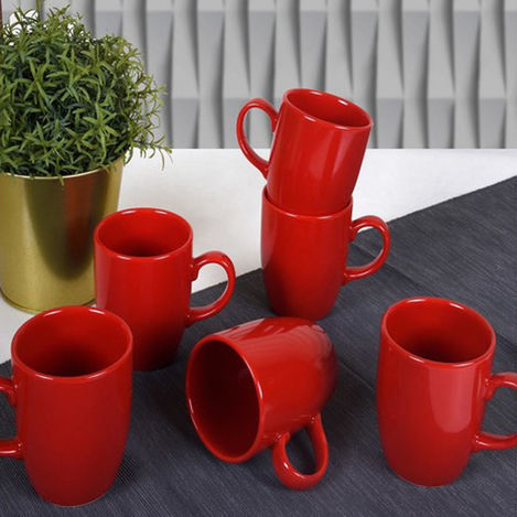 Keramika 506 A Bulut Bayrak Kupa - Kırmızı
