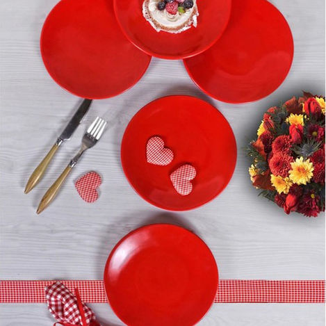 Resim  Keramika 513 A Ege Servis Tabağı (Kırmızı) - 26 cm
