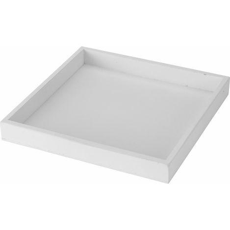 Q-Art Dekoratif Mum Tepsisi (Beyaz) - 25x25 cm