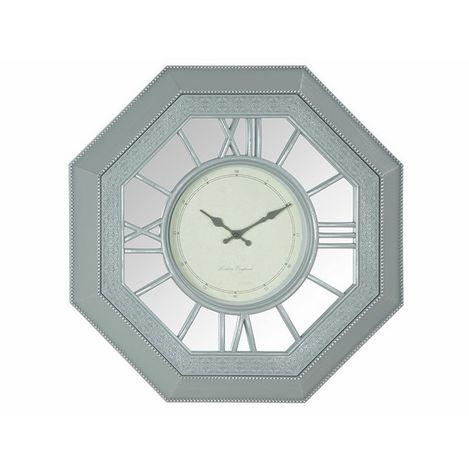 Biev ZNG035 Sekizgen Duvar Saati - Gümüş