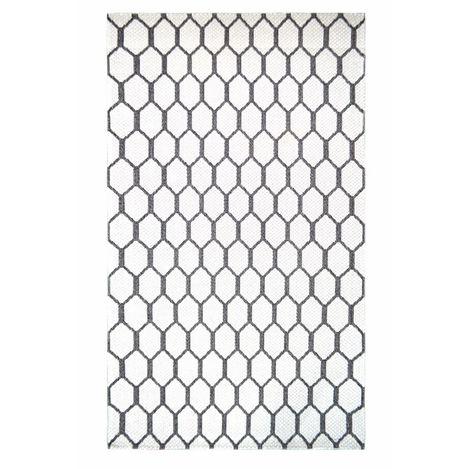 Resim  Giz Home SH21676 Shaman Kilim (Beyaz) - 115x180 cm