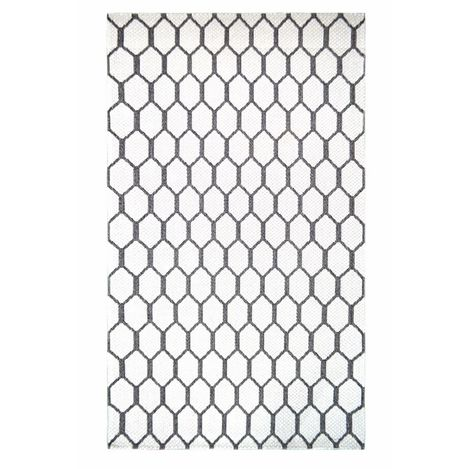 Resim  Giz Home SH21676 Shaman Kilim (Beyaz) - 150x230 cm