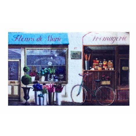 Giz Home Trendy Çiçekçi Kapı Paspası - 45x75 cm