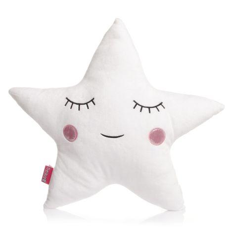 Selay Yıldız Figürlü Yastık (Pembe) - 45 cm