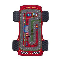 Confetti Racer Anti-Slip Çocuk Halısı (Kırmızı) - 133x190 cm