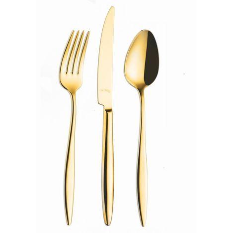 Ar-Yıldız Elegant Pvd Tatlı Çatallı 24 Parça Set Gold