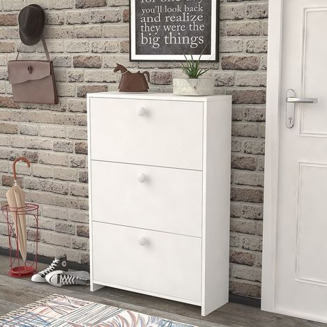 Resim  Just Home Perge Ayakkabılık - Beyaz