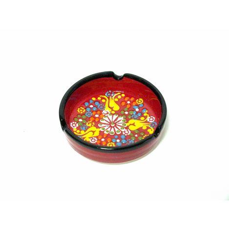 Myros Küçük Kabartma Küllük - Kırmızı