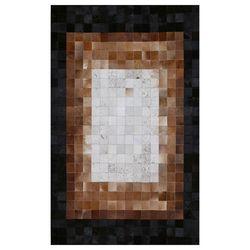 Eko Halı Deri Kahve Geçişli Patchwork Halı - 140x200 cm