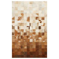 Eko Halı Deri Patchwork Halı (Venge) - 140x200 cm