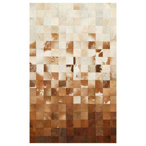 Resim  Eko Halı Deri Patchwork Halı (Venge) - 140x200 cm