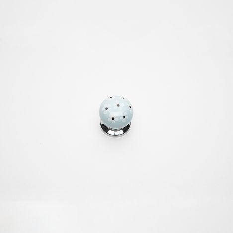 Esal D14A 96 Yıldız Kartopu Düğme Krom Kulp - Mavi
