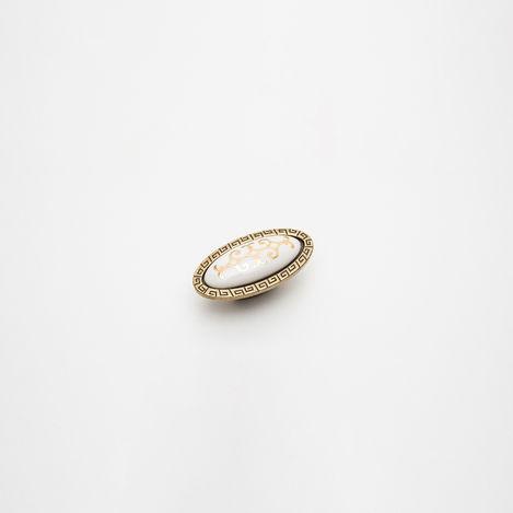 Esal Akçay Antik Düğme Kulp - Beyaz