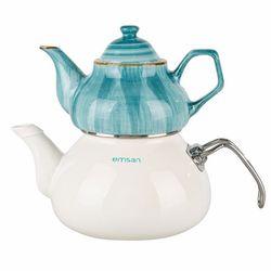 Emsan İzmir Porselenli Çaydanlık - Mavi
