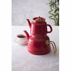 Emsan Troy Emaye Çaydanlık Takımı - Kırmızı