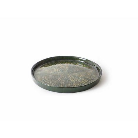 Cemile Rexy Yeşil Altın 6'lı Pasta Tabağı - 21 cm