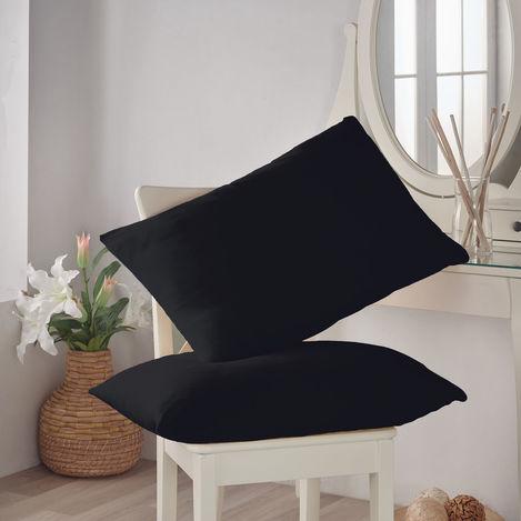 Resim  Açelya Penye 2'li Yastık Kılıfı (Siyah) - 50x70 cm