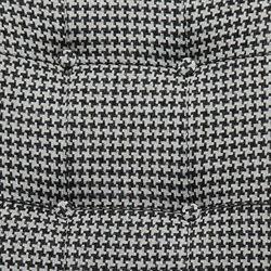 Linda Zümra Sandalye - Siyah Kazayağı Desen / SiyahAyak