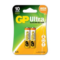GP Batteries GP15AU Ultra Alkalin LR6/E91/AA Boy Kalem Pil - 1.5 V, 2'li Kart