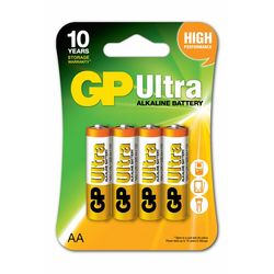 GP Batteries GP15AU Ultra Alkalin LR6/E91/AA Boy Kalem Pil - 1.5 V, 4'lü Kart
