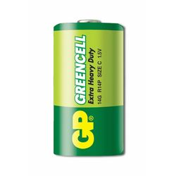 GP Batteries GP14G Greencell R14P/1235/C Boy Orta Pil - 1.5 V, 2'li Kart
